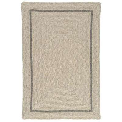 Natural Light Grey 4 ft. x 6 ft. Rectangle Braided Area Rug