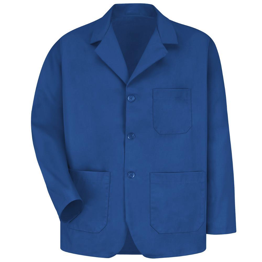 Men's Size XL Royal Blue Lapel Counter Coat