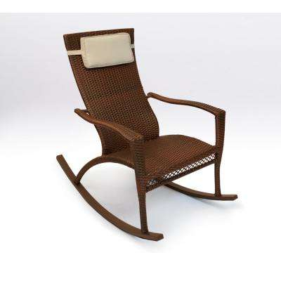 Maracay Java Wicker Oversized Outdoor Rocking Chair with Head Cushion