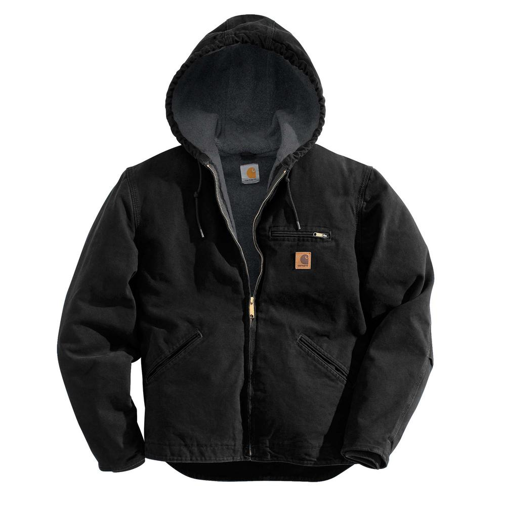 Carhartt Men's 4 Xl Black Cotton Sierra Jacket Sherpa Lin...
