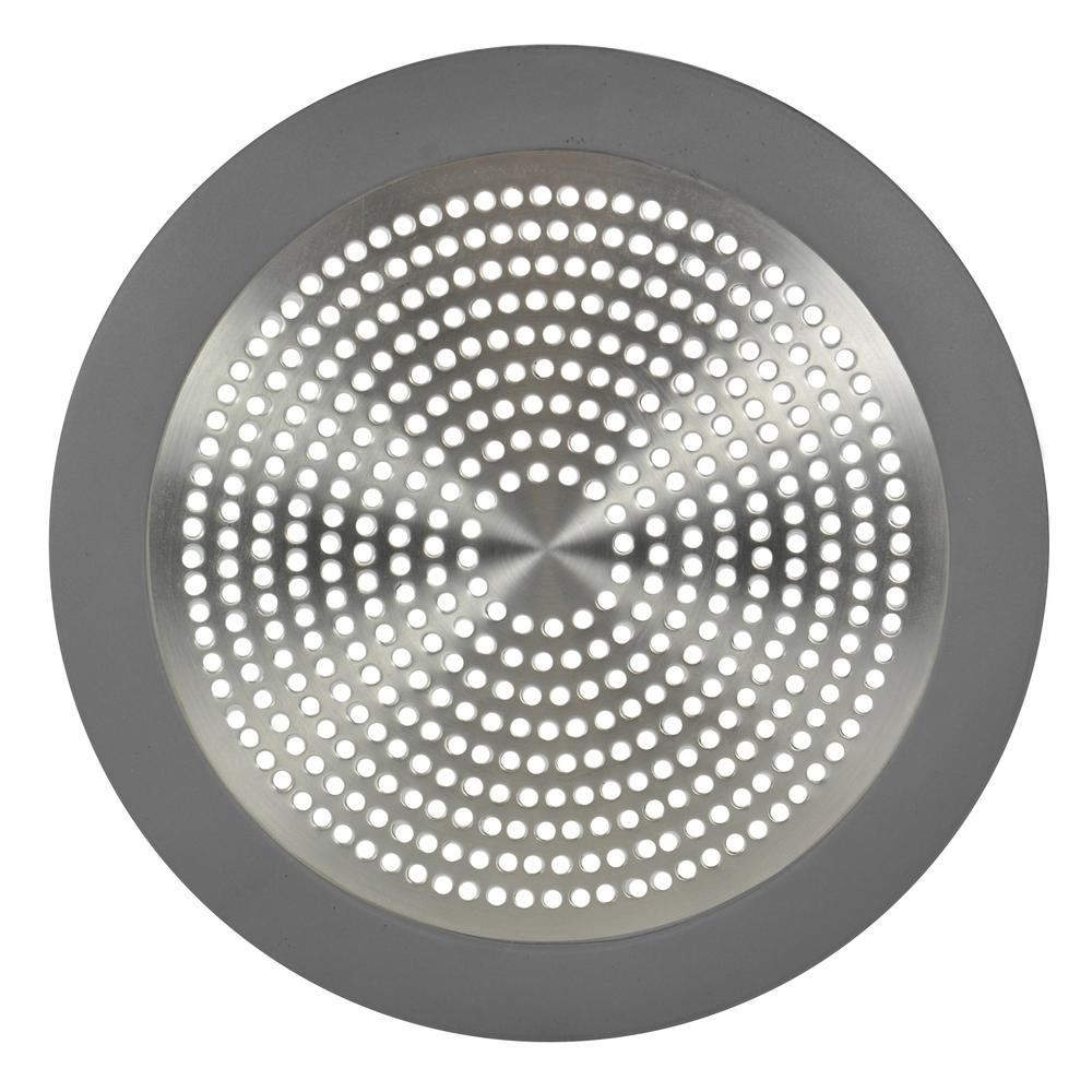 Danco Hair Catcher Bathroom Tub Strainer: DANCO Shower Drain Strainer In Brushed Nickel-10895