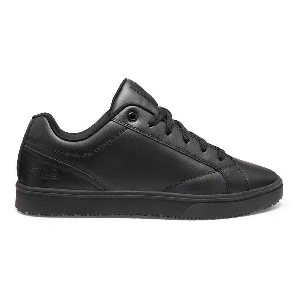 bc7fc76bbfeb Fila Memory Amalfi Men Size 10 Black Leather Synthetic Soft Toe Work ...