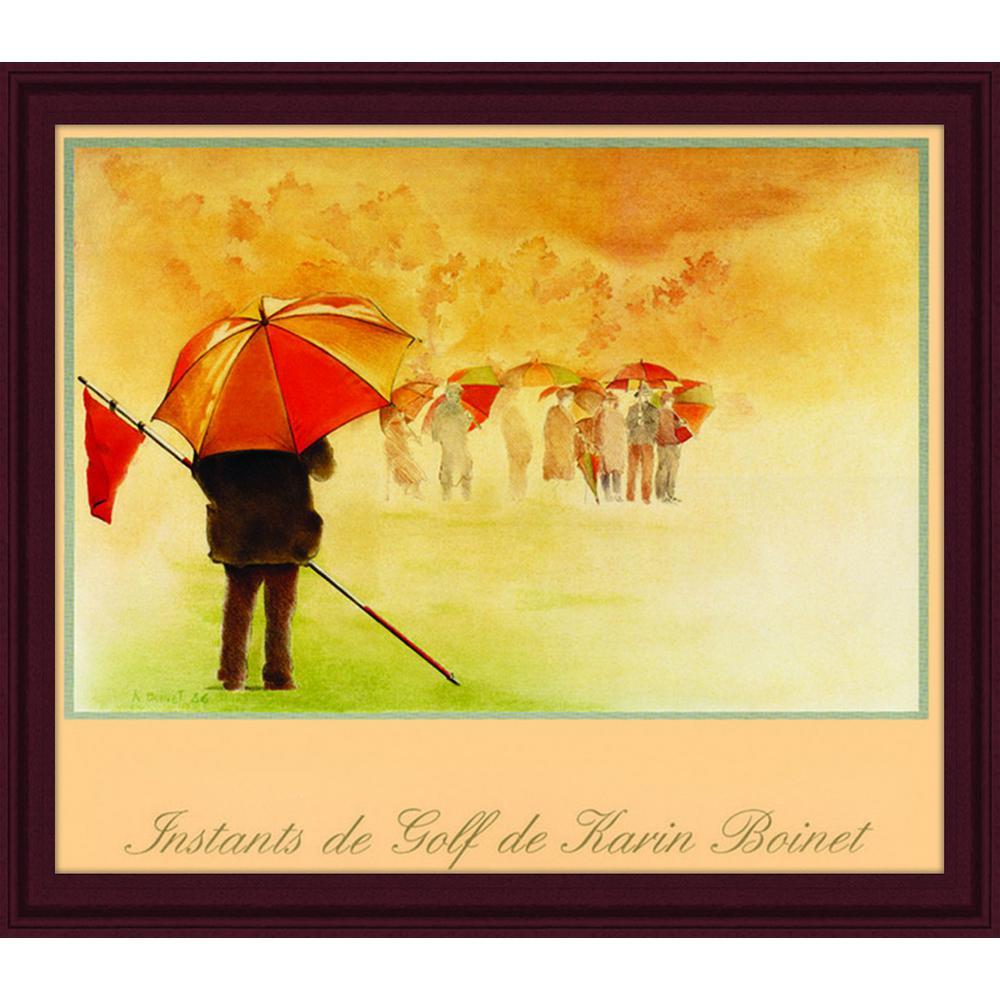 PTM Images 30.in x 24.in\'\'Instants de Golf\'\' By PTM Images Framed ...