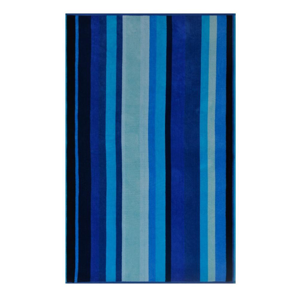 Mardigas 100% Cotton Beach Towel Blue Lagoon