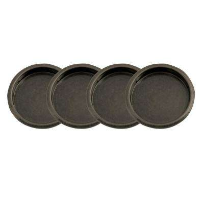 2-1/8 in. Oil Rubbed Bronze Closet Door Finger Pull (4 per Pack)