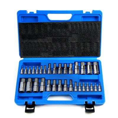 Master SAE and MM Hex Bit Socket Set (32-Piece)