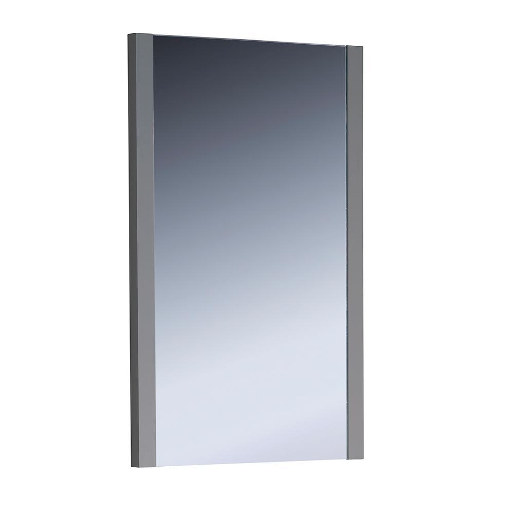 Fresca Torino 21 in. W x 31.50 in. H Side Framed Wall Mirror in Gray