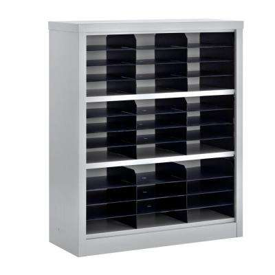 42 in. H x 34.5 in. W x 13 in. D Steel Commercial Literature Organizer Unit in Gray