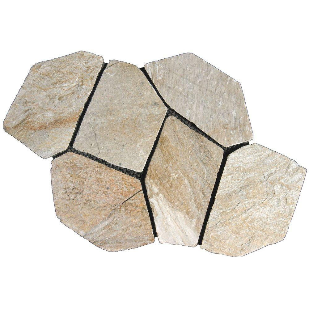 MSI 18 in. x 22 in. Arctic White Quartz Natural Slate Flagstone