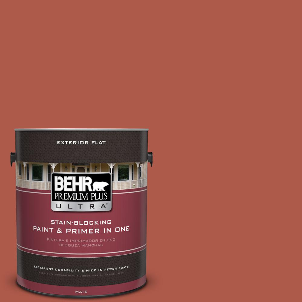 BEHR Premium Plus Ultra 1-Gal. #PPU2-14 Tibetan Orange Flat Exterior Paint