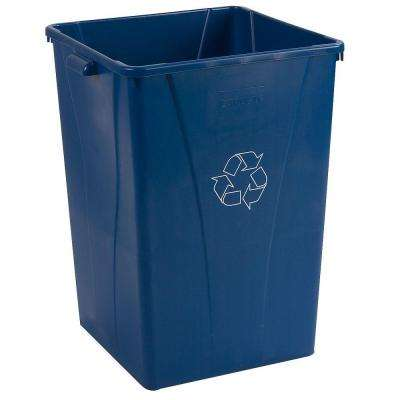 Centurian 35 Gal. Blue Imprinted Square Recycling Waste Container (4-Pack)