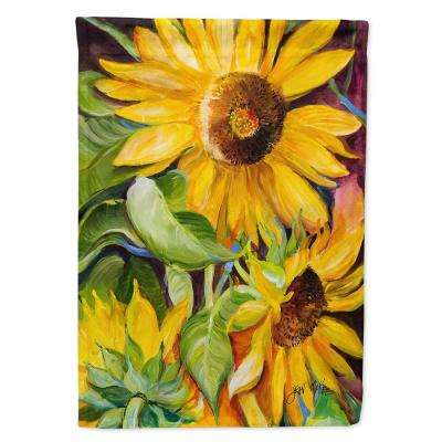 11 in. x 15-1/2 in. Polyester Sunflowers 2-Sided 2-Ply Garden Flag