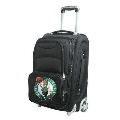 NBA Boston Celtics 21 in. Black Carry-On Rolling Softside Suitcase