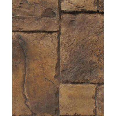 Adobe Brown 8 in. x 8 in. x 3/4 in. Faux Windsor Stone Sample