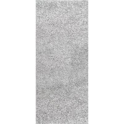 Marleen Plush Shag Silver 3 ft. x 10 ft. Runner