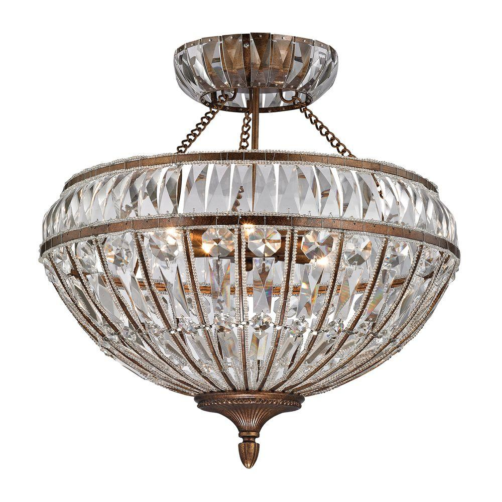 Titan lighting windermere collection 6 light mocha semi flush mount titan lighting windermere collection 6 light mocha semi flush mount light aloadofball Images