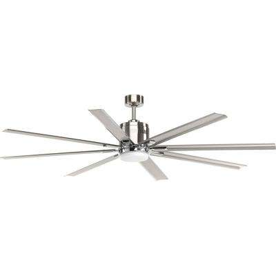 Vast Collection 72 in. LED Brushed Nickel Ceiling Fan