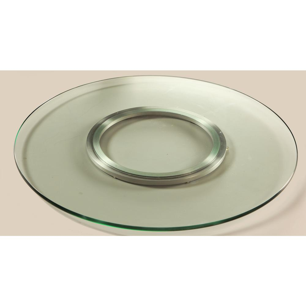 null lazy susan 24 in round clear glass spinning tray