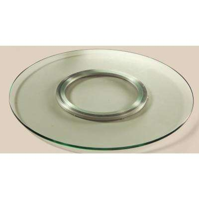 Lazy Susan 24 in. Round Clear Glass Spinning Tray