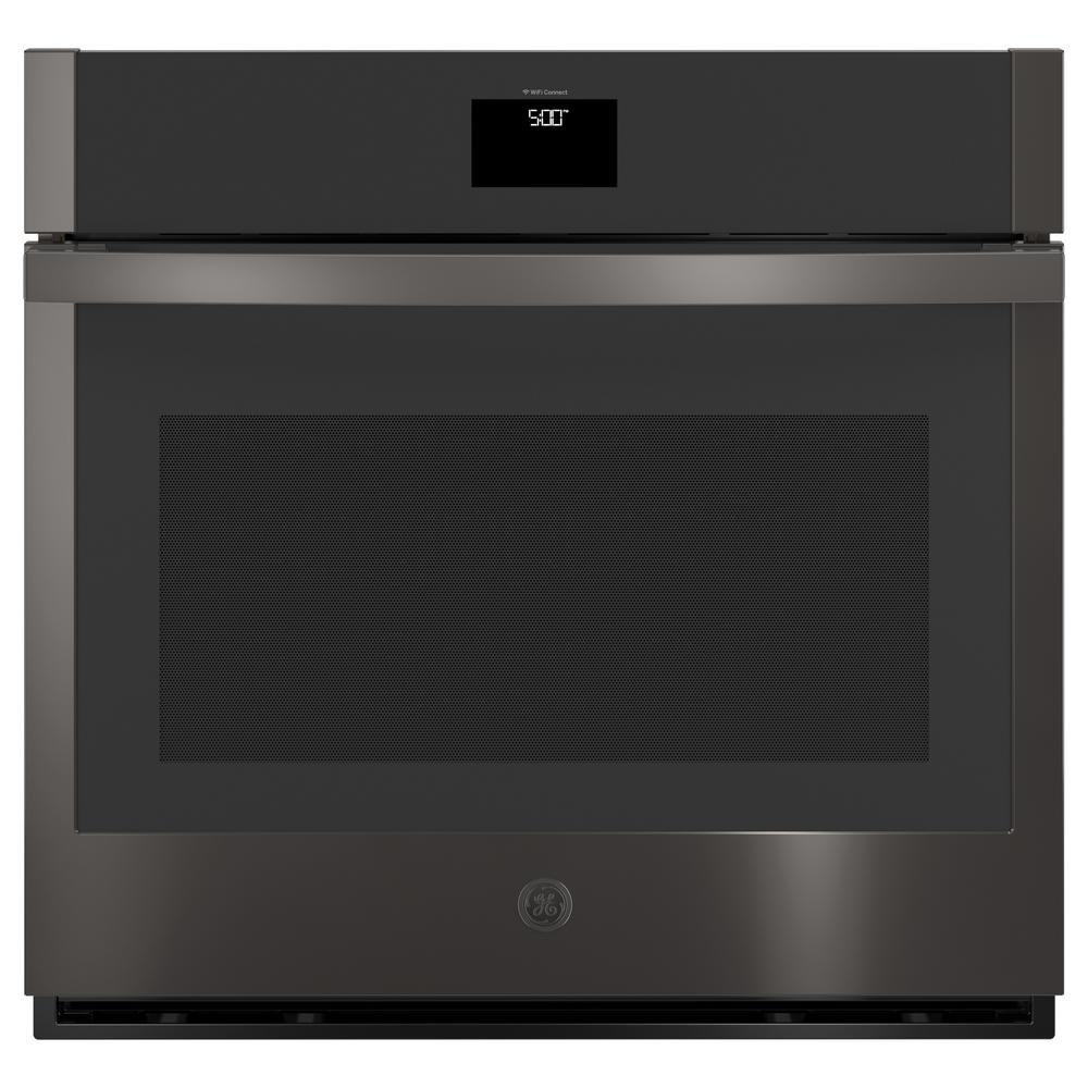 GE 30 in. 5 cu. ft. Smart Single Electric Wall Oven with Convection Self-Cleaning in Black Stainless Steel