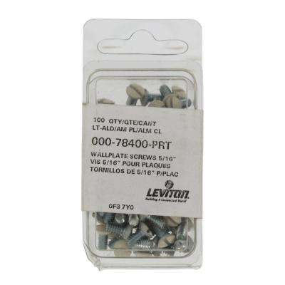 5/16 in. Long 6-32 Thread Replacement Wallplate Screws, Light Almond