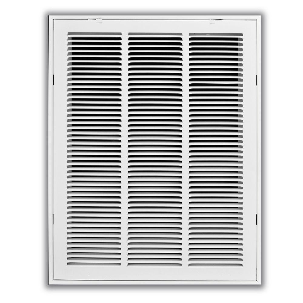 16 in. x 20 in. White Return Air Filter Grille