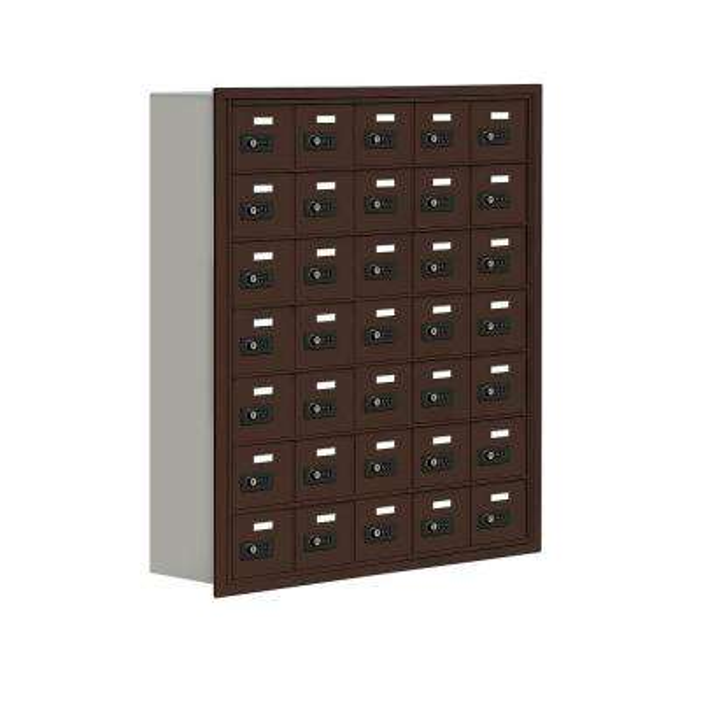 19000 Series 37 in. W x 42 in. H x 8.75 in. D 35 A Doors R-Mounted Resettable Locks Cell Phone Locker in Bronze