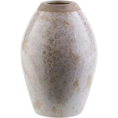Thryth 8.46 in. Gray Ceramic Decorative Vase