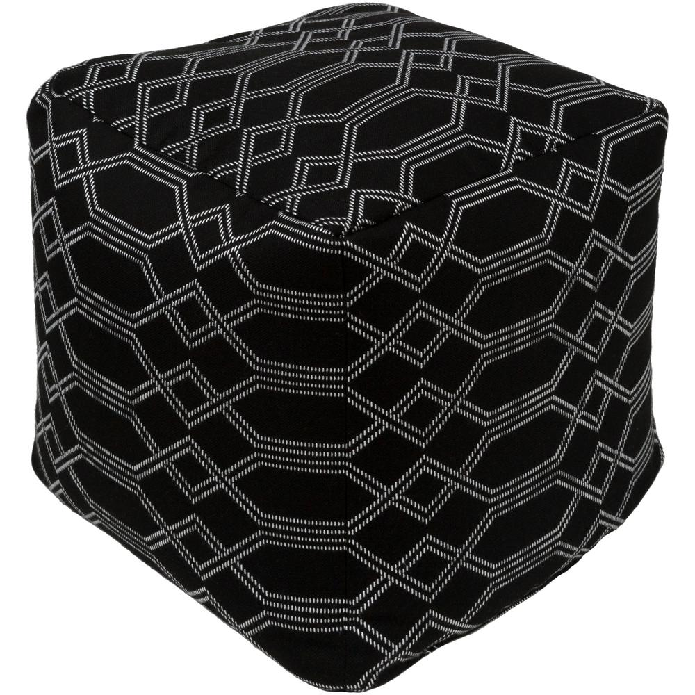 Black Willshaw Accent Pouf