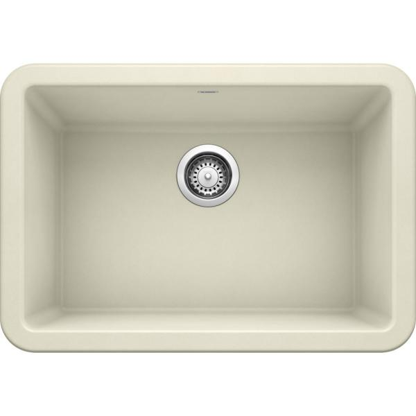 IKON Farmhouse Granite Composite 27 in. Single Bowl Kitchen Sink in Biscuit
