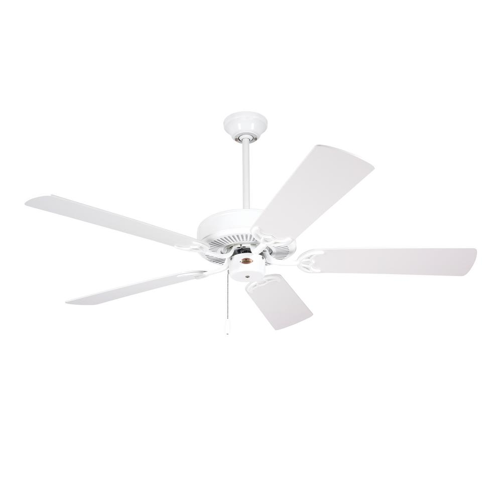 white ceiling fans donegan 52 in indoor outdoor fresh white ceiling 11554