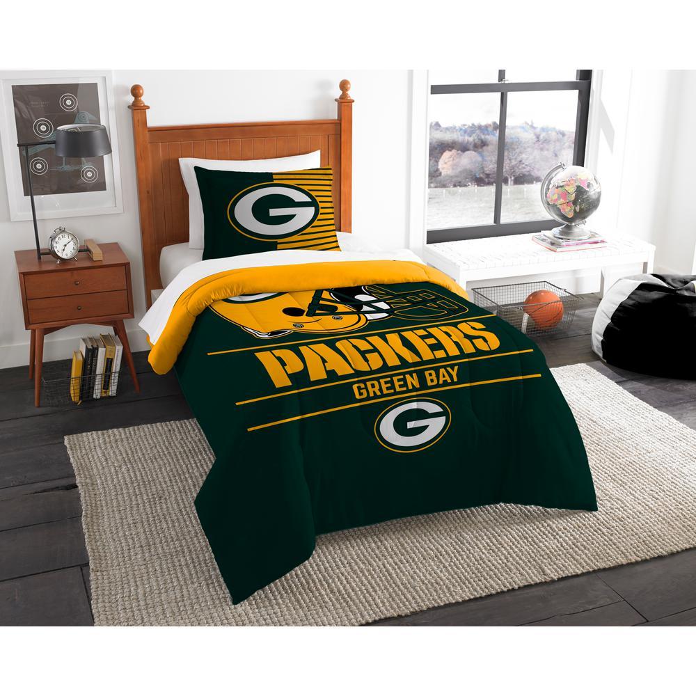 Piece Draft Multi Twin Comforter Set, Green Bay Bedding Queen