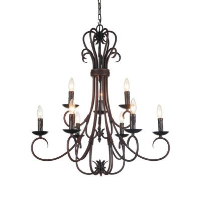 Maddy 9-Light Oil Rubbed Brown Chandelier