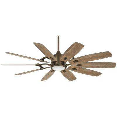 Barn 65 in. Integrated LED Indoor Heirloom Bronze Smart Ceiling Fan with Light with Remote Control