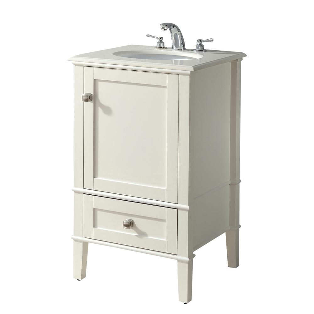 Quartz Bathroom Countertops Home Depot: Simpli Home Chelsea 20 In. Bath Vanity With Quartz Marble