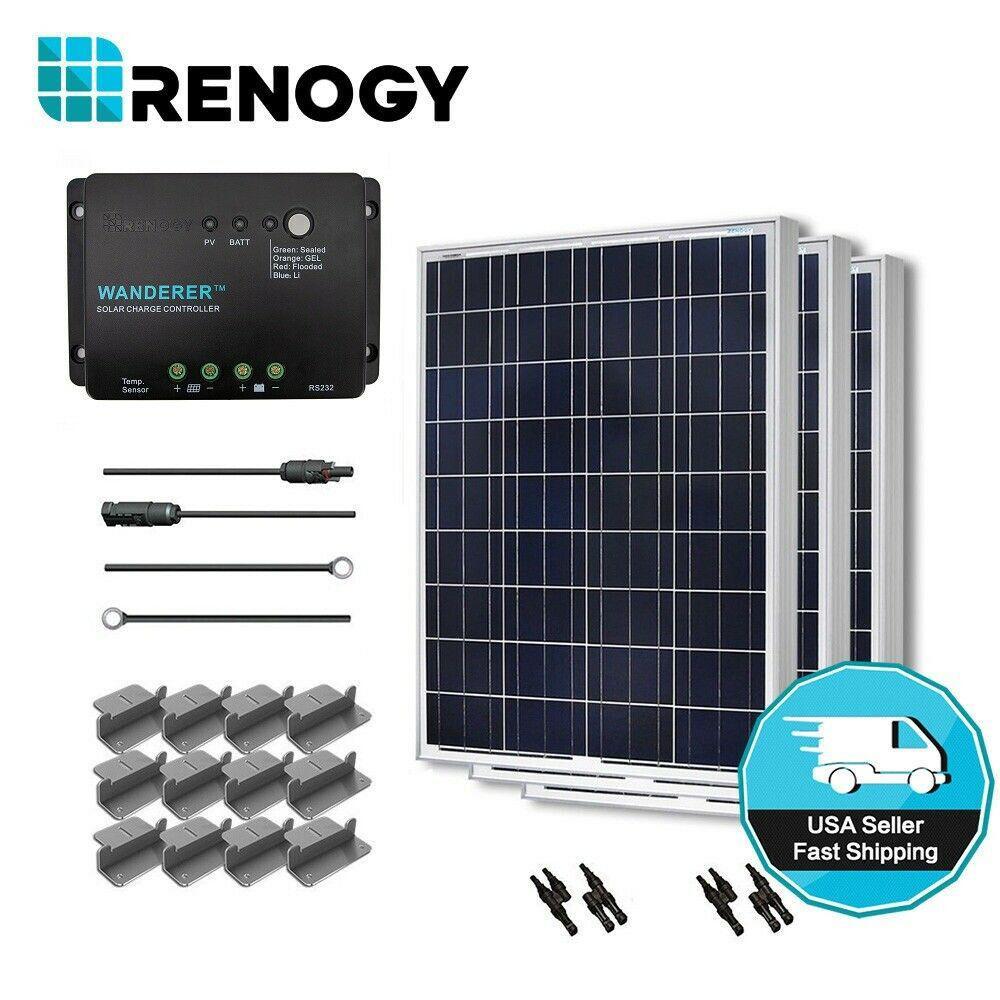 Renogy 300 Watt 12 Volt Polycrystalline Solar Starter Kit