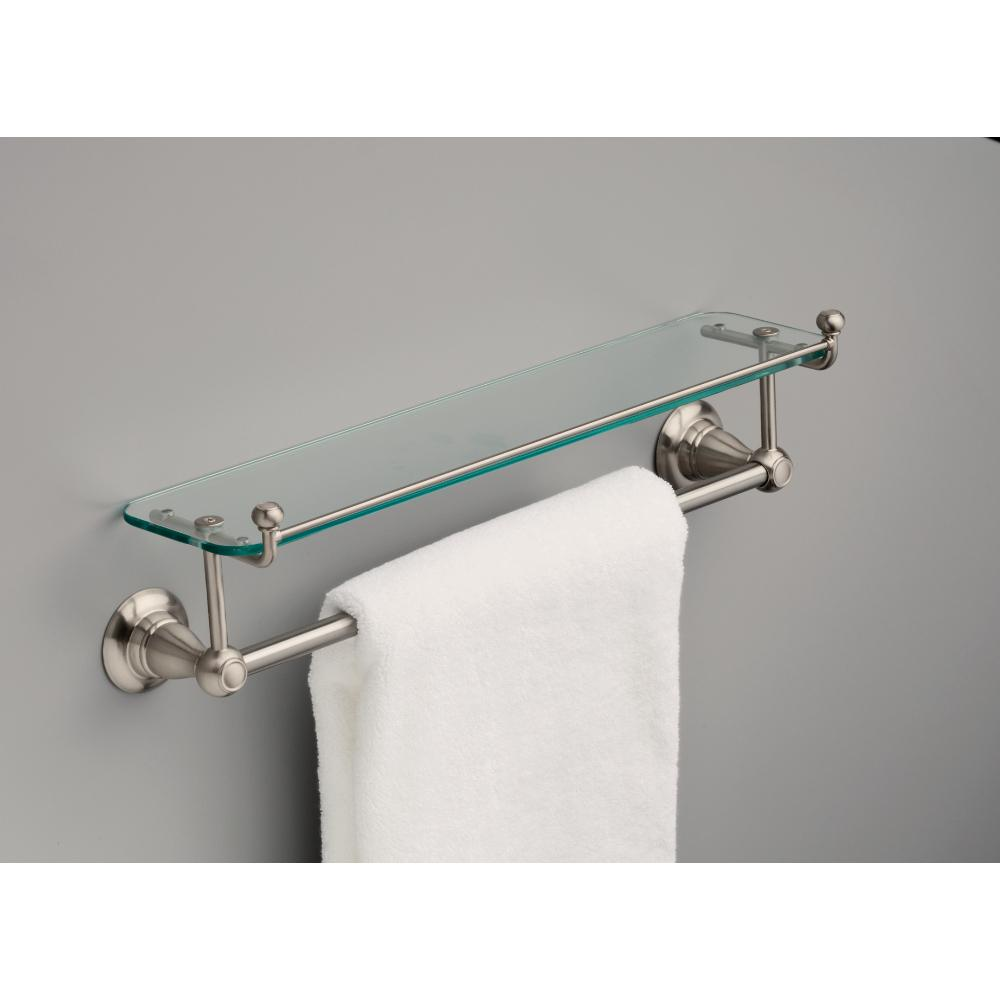 Towel Bar w Glass Shelf Delta Porter 18 In Bathroom Hardware Oil Rubbed Bronze