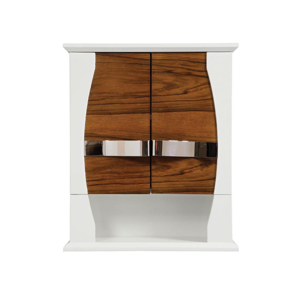 Decolav natasha 22 in w birch gloss wall cabinet in black - Bathroom storage wall cabinets white ...
