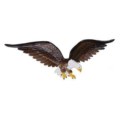 24 in. Natural Color Wall Eagle