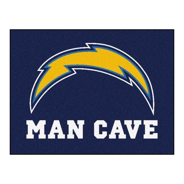 San Diego Chargers Blue Man Cave 3 ft. x 4 ft. Area Rug