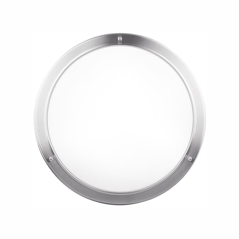 27.5-Watt Brushed Nickel Integrated LED Ceiling Flush Mount