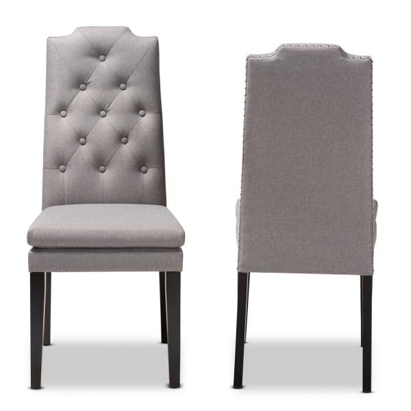 Dylin Gray Fabric Dining Chair (Set of 2)