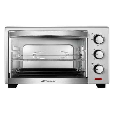 6-Slice Stainless Steel Convection and Rotisserie Countertop Toaster Oven