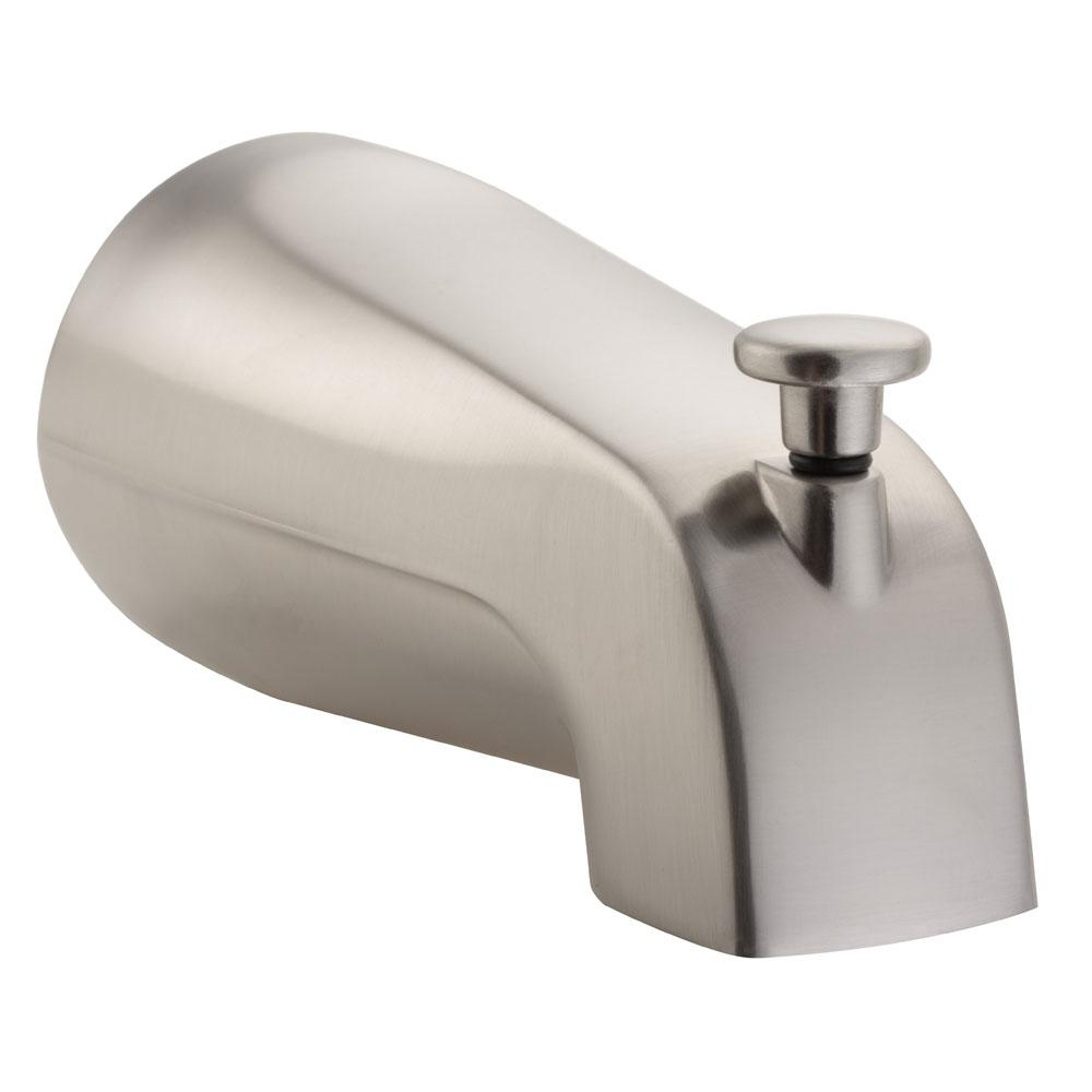 Pulse Brass Tub Spout With NPT Connection In Brushed Nickel