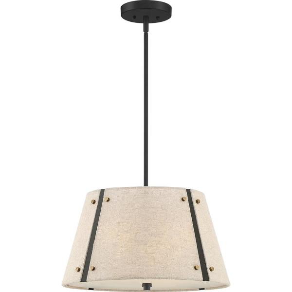 Amherst 3-Light Mottled Cocoa Pendant