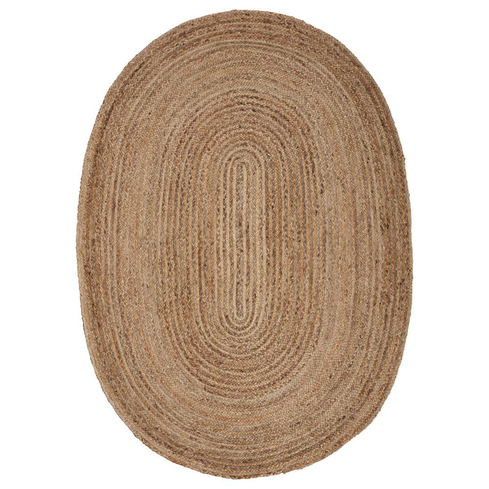 Large Oval Area Rugs: LR Resources Natural Jute Natural/Gray 7 Ft. X 9 Ft. Oval