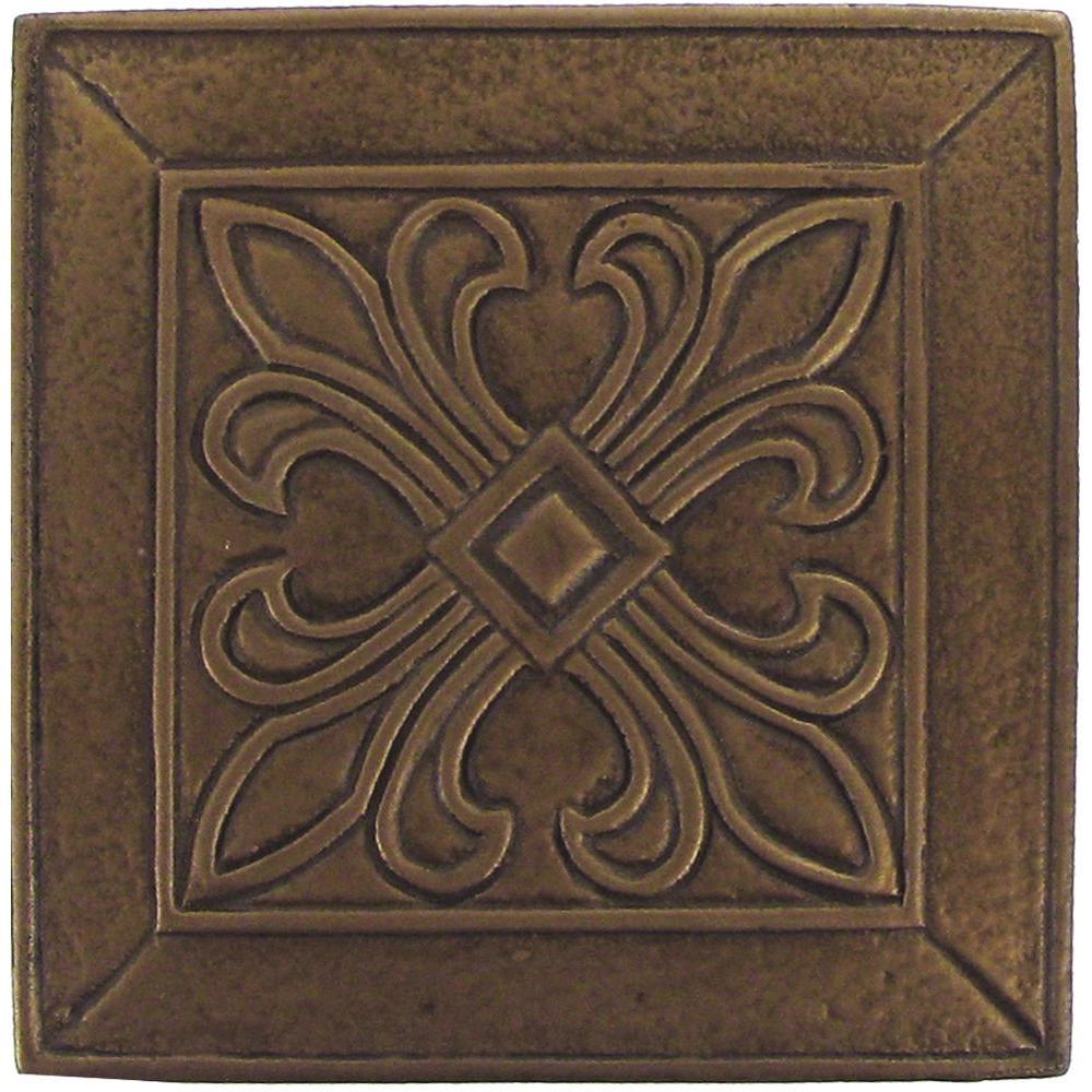 MS International 4 In. x 4 In. Bronze Metal Insert Floor & Wall Tile-DISCONTINUED