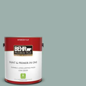 1 gal. #N430-3 Garden Vista Flat Low Odor Interior Paint and Primer in One