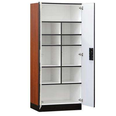 32 in. W x 76 in. H x 18 in. D Standard Wood Designer Storage Cabinet Assembled in Cherry