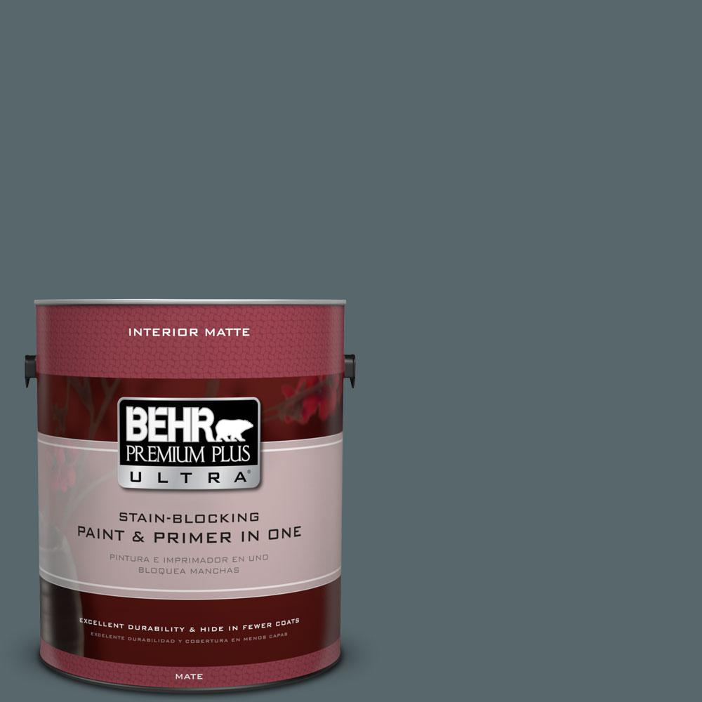 1 gal. #N470-6 Whale Gray Matte Interior Paint